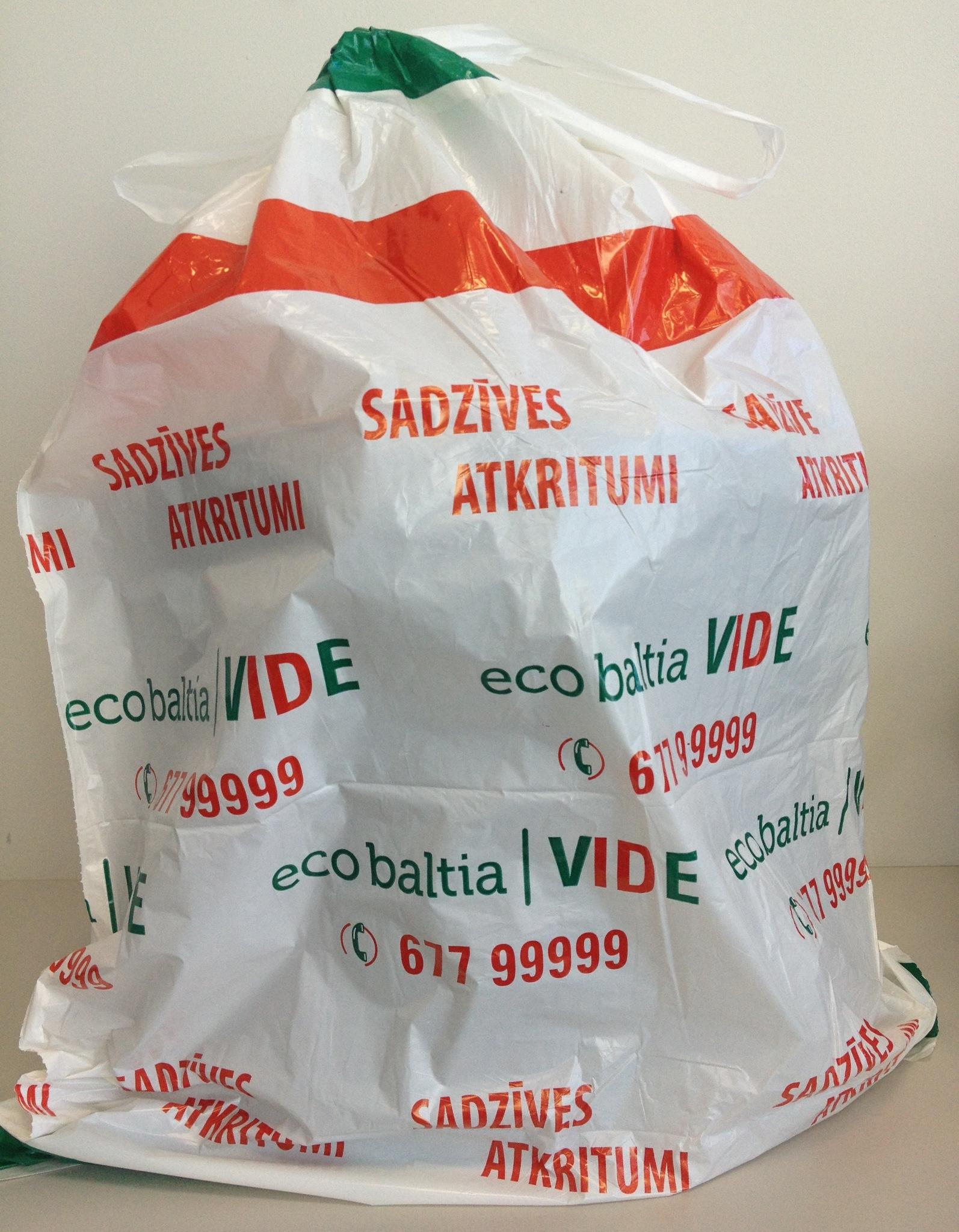 Tērvetes novada iedzīvotājiem pieejami sadzīves atkritumu priekšapmaksas maisi