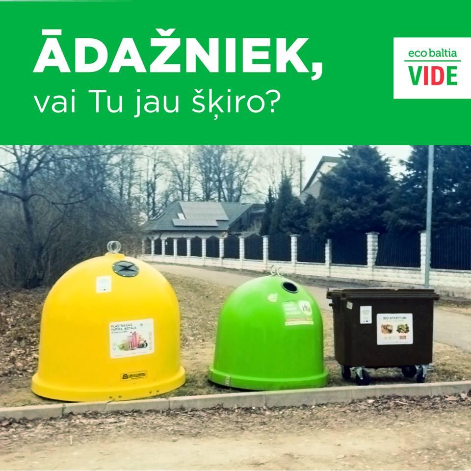 """SIA """"Eco Baltia vide""""atkritumu šķirošanas iespēju paplašināšas projekts Ādažos ir noslēdzies"""