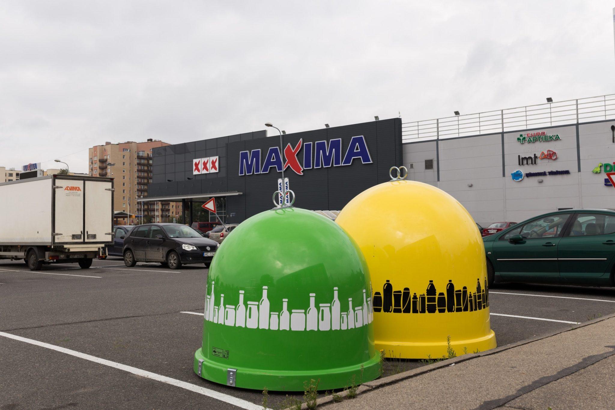 """Paplašina stikla iepakojuma šķirošanas iespējas pie """"Maxima"""" veikaliem reģionos"""